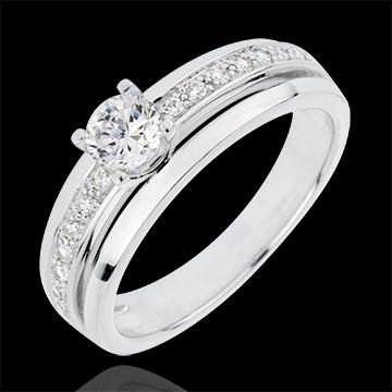 vente Bague de Fiançailles Solitaire Destinée - Ma Reine - grand modèle - or blanc - diamant 0.33 carat