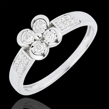 sell Solitair Ring Freshness - Clover of the Lovers - 4 diamonds