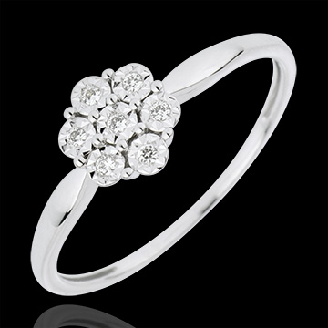 on-line buy Freshness Solitair Ring - Flower Snowflake - 7 diamonds