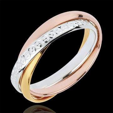 buy Wedding Ring Saturn Movement variation- large model - 3 golds, 3 rings