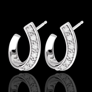 weddings Ringlet earrings-white gold