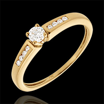 Geschenke Frau Solitär Octave in Gelbgold - 0.21 Karat - 9 Diamanten