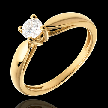 buy on line Curved Solitaire ring - 0.31 carat