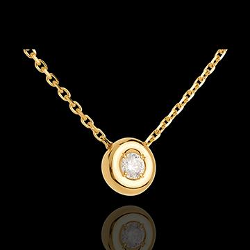 Geschenke Diamantcollier Kelch in Gelbgold