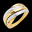 gold jewelry Naja ring white and yellow gold paved - 4diamonds