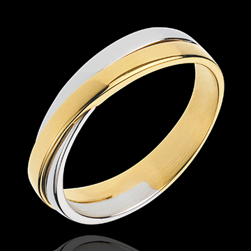 weddings Wedding Ring Saturn Duo - all gold - yellow gold and white gold