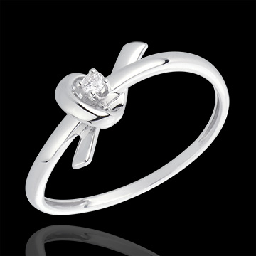 jewelry White Gold and Diamond Memory Ring