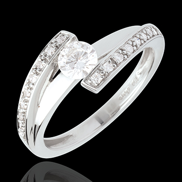 on line sell Engagement Ring Destiny - Eleanor - white gold - 0.37 carat diamond