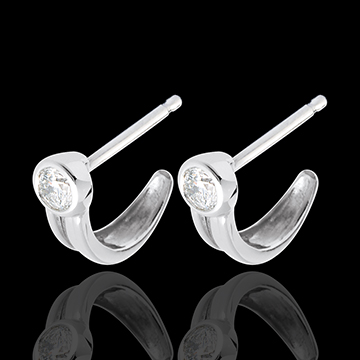 gold jewelry Snap diamond earrings-white gold studs - 0.25 carat