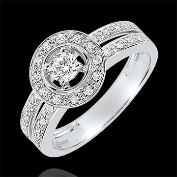 on-line buy Destiny Engagement Ring - Lady - 0.16 carat diamond - white gold 18 carats