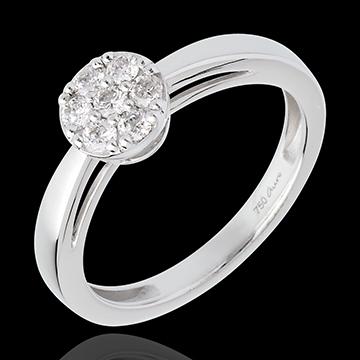 kaufen Ring Halbkugel mit Diamanten besetzt - 0.26 Karat