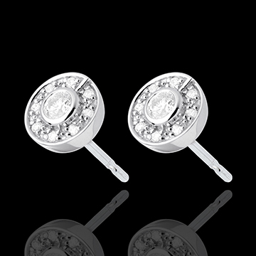buy on line Button Stud Earrings white gold - 0.25 carat