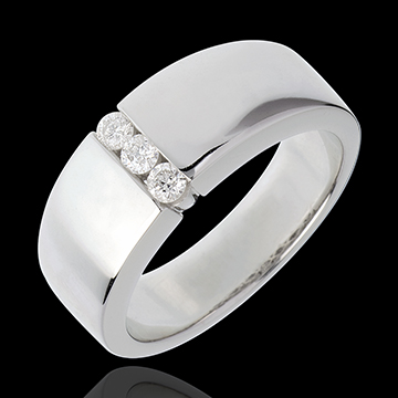 buy on line Trilogy band white gold - 3diamonds