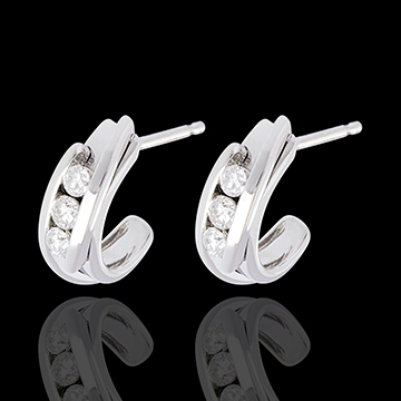 buy on line Double arch trilogy earrings-white gold - 0.3 carat - 6 diamonds