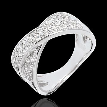 sell on line Tandem paved half eternity ring - 0.5 carat - 36 diamonds
