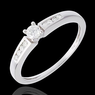 Verkäufe Solitär Octave in Weissgold - 0.21 Karat - 9 Diamanten