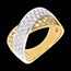 Tandem ring paved - 0.8 carat - 57diamonds