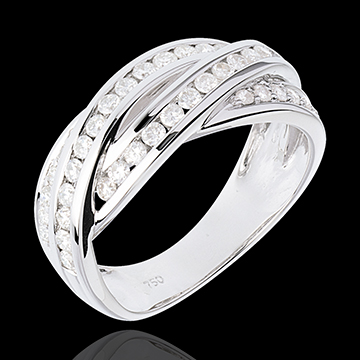 weddings Ring Destiny - diamond 0.63 carat - white gold - 18 carats
