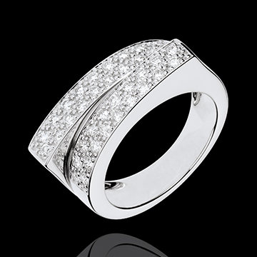 jewelry Ring Enchantment - Double destiny - 0.68 carat diamond