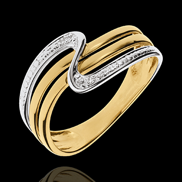 gift woman Yellow Gold Silence Ring