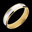 Kauf Ring Dandy aus Gelbgold und Weissgold - 5mm