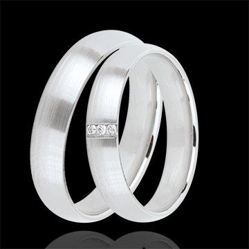 online kaufen Trauringe Ideal 3 Diamanten