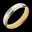 Ring Dandy aus Gelbgold und Weissgold - 4mm