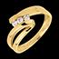 Kauf Trilogie Ring Kostbarer Kokon - Najade - Gelbgold- 3 Diamanten - 18 Karat