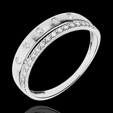 on line sell Ring Enchantment - Crown of Stars - small - white gold