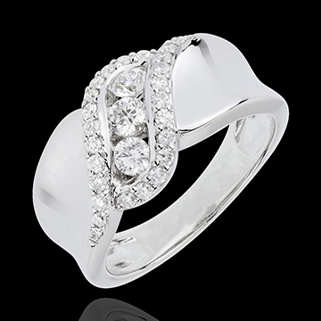 gifts Ring Destiny Trilogy - Scheherazade - white gold