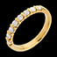 خاتم زواج من الذهب الأصفر 18 قيراط شبه مرصَّع ـ ترصيع مستطيل ـ 0.5 قيراط ـ8 ماسات