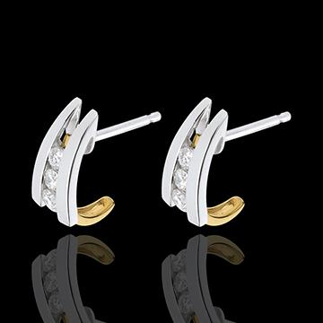 women Accroche Coeur Duo Earrings