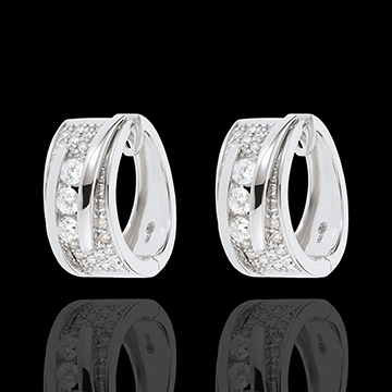 gifts women Earrings Enchantment - Funambule - white gold - 64 diamonds - 0.73 carats