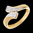 sales on line Ribbon shaped ring paved yellow gold - 24 diamonds