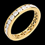 Wedding ring yellow gold paved-channel setting - 2 carat - 23 diamonds
