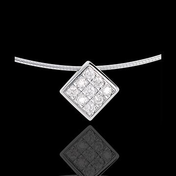 Online Kauf Collier Würfel in Weissgold - 0.23 Karat - 9 Diamanten