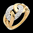 gold jewelry Chain ring yellow gold paved - 24diamonds