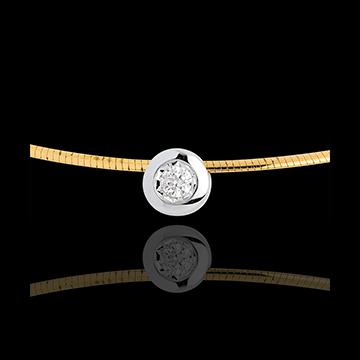 kaufen Collier Flohdiamant in Gelb- und Weissgold