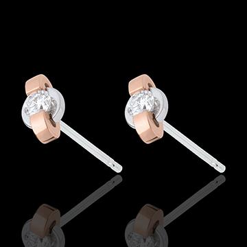 present Earrings ring - rose gold. white gold