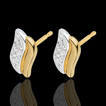 buy Two Gold and Diamond Magical Icon Stud Earrings
