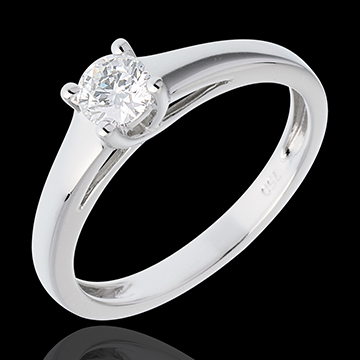 sell Essential Soltaire ring white gold - 0.34 carat
