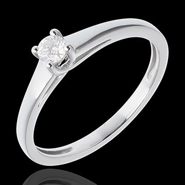 Online Kauf Klassischer Solitär Ring in Weissgold