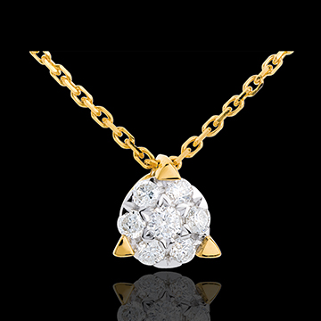 Kauf Collier Solitär in Gelbgold - 7 Diamanten