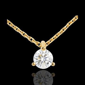 Juwelier Collier Solitär in Gelbgold - 0.26 Karat