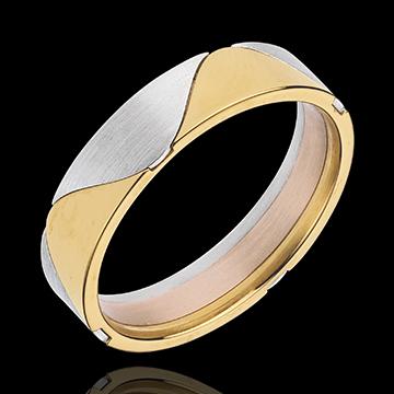 Online Kauf Ring Harlekin in Gelbgold und Weissgold