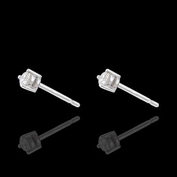 buy on line White Gold Diamond Chip Joya Stud Earrings