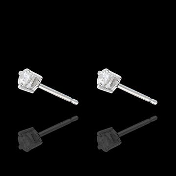 on-line buy White Gold Diamond Chip Joya Stud Earrings
