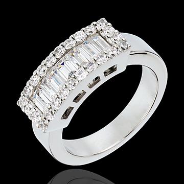 online kaufen Ring Lanière in Weissgold - 1.35 Karat - 31 Diamanten