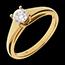 Ring Solitaire Tiara 18 karaat geelgoud - 0.47 karaat