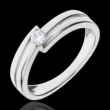 jewelry Precious Nest Ring- Salomé - white gold - 0.11 carats - 9 carats